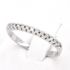 Anello riviera oro diamanti -0.11 ct; 1.09 gr