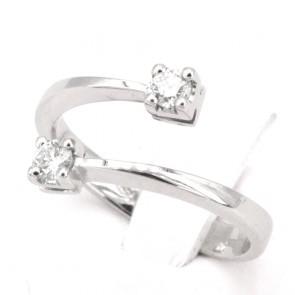 Anello contrariè oro e diamanti -0.26 ct; 3.85 gr
