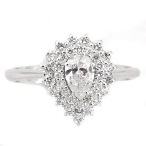 Anello goccia oro e diamanti