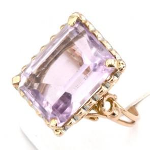 Anello oro maxi stone ametista; 10.8 gr