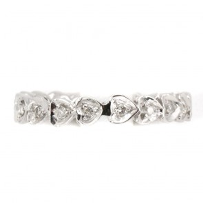 Anello eternel cuoricini oro e diamanti