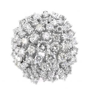 Anello fuoco d'artificio in oro e diamanti