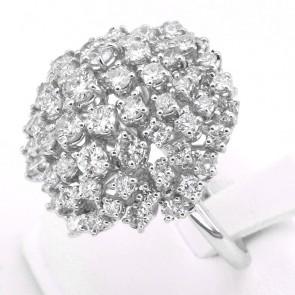 Anello fuoco d'artificio in oro e diamanti -6.20-6.60 ct; 13.96 gr