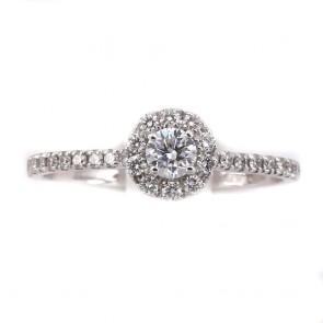 Anello margherita circolare-riviera oro e diamanti