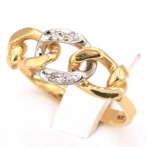 Anello catena in oro diamanti -2.88 gr
