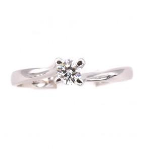 Anello solitario, montatura modello Valentino, oro e diamante