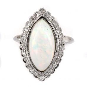 Anello, oro, spola di opale