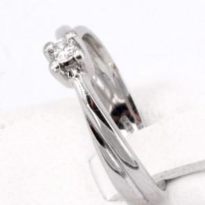 Anello solitario, oro e diamante - 0.08-0.10 ct; 2.89 gr
