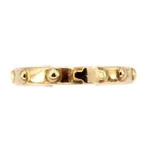 Anello fede rosario e oro