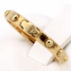 Anello fede rosario e oro - 1.7 gr. Misura 8