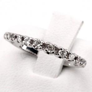 Anello riviera a scalare oro e diamanti -0.25 ct; 2.20 gr