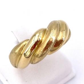 Anello fascia scanalata bombata oro - 9.25 gr
