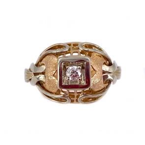 Anello in stile, vintage oro e diamante
