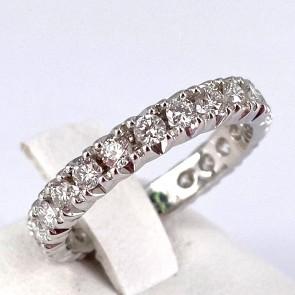 Anello eternel oro e diamanti -1.02 ct; 3 gr. Misura 10-11