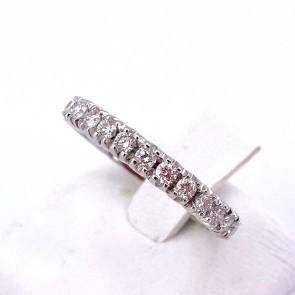 Anello eternel oro e diamanti -0.91 ct; 3.42 gr. Misura 10-11