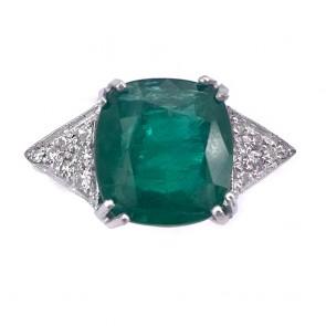 Anello oro, smeraldo