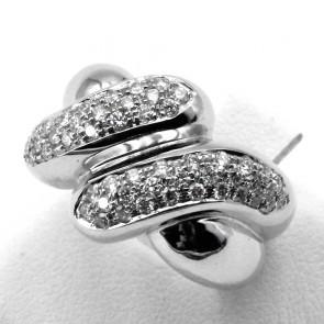 Anello maxi fascia nodo in oro e diamanti -1.30 ct; 13.25 gr