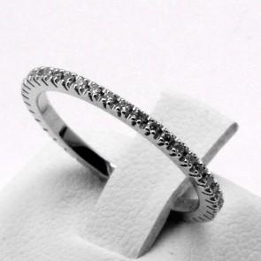Anello eternel oro e diamanti -0.33 ct; 1.54 gr. Misura 12