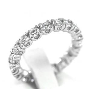 Anello eternelle misura 13 oro e diamanti - 2,20 ct; 4,4 gr