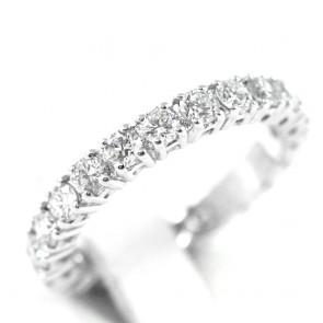 Anello eternelle misura 12 oro e diamanti - 1,59 ct; 3,1 gr