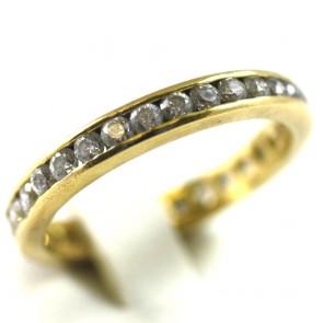 Anello eternelle oro e zirconi taglio brillante; 4,5 gr