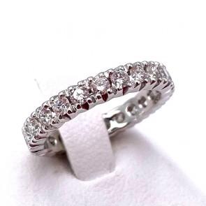Anello eternel oro e diamanti -1.11 ct; 3.48 gr. Misura 10