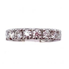 Anello eternel da favola oro e diamanti -2.42 ct; 6.75 gr. Misura 14