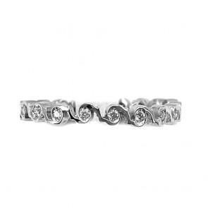 Anello eternel spirali circolari oro e diamanti