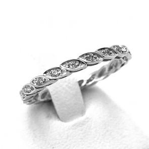 Anello eternel spolette oro e diamanti -0.22 ct; 2.38 gr