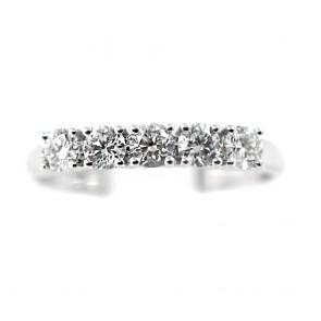 Anello riviera oro e diamanti -0,60 ct; 2,8 gr