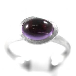 Parure Confetti firmata Marco Bicego, anello + orecchini, oro e ametista - 9,1 gr