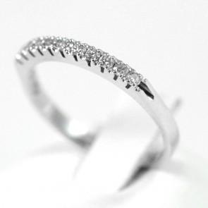 Anello riviera oro e diamanti -0,20 ct; 2 gr