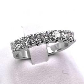 Anello riviera oro e diamanti -0.90 ct; 4.15 gr