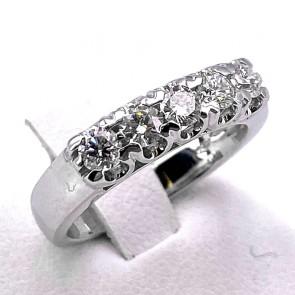Anello riviera oro e diamanti -0.63 ct; 5.18 gr