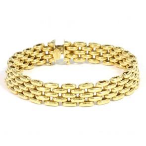 Bracciale UNOAERRE catena maglia oro, fascia larga 1 cm - 22,35 gr; 19 cm