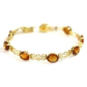 Bracciale oro catena traforata