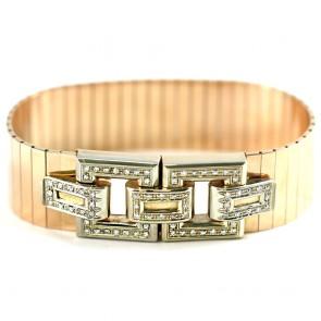 Bracciale capolavoro maxi cintura catena oro e diamanti 8/8 - 1,20-1,40 ct; 86,5 gr