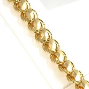 Bracciale catena, geometrico oro - 19,6 gr. 20,5 cm x 1,3 cm