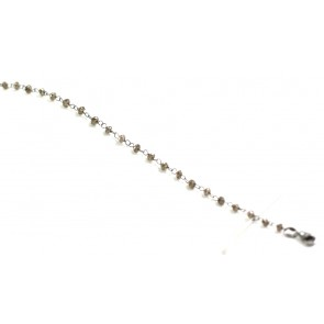 Bracciale oro brunito e diamanti brown - 1,3 gr, 19 cm -