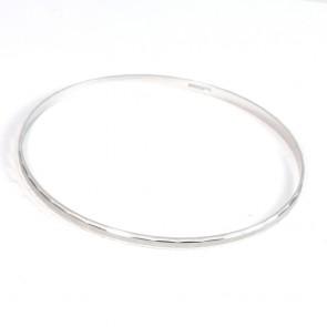 Bracciale bangle a cerchio rigido in oro bianco - 5,83 gr
