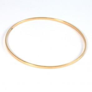 Bracciale bangle antico a cerchio rigido in oro giallo - 7,78 gr