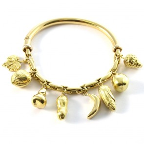 Bracciale charms semi rigido