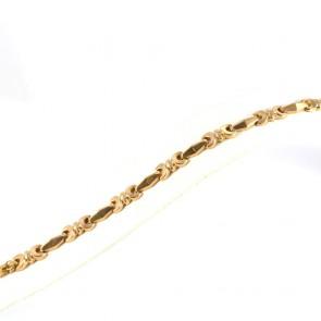 Bracciale in stile catena tank vintage, oro - 8,4 gr. 17,5 cm x 0,7 cm