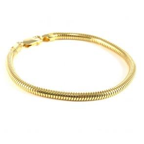 Bracciale tubo gas-coda di topa argento dorato