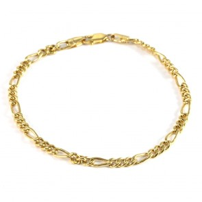 Bracciale uomo oro maglia 3+1 - 19.5 cm; 4.25 gr