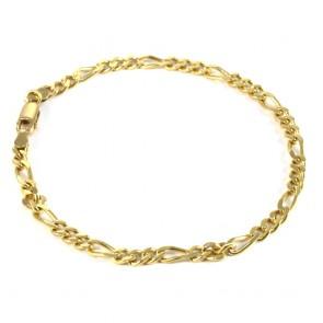 Bracciale uomo oro maglia