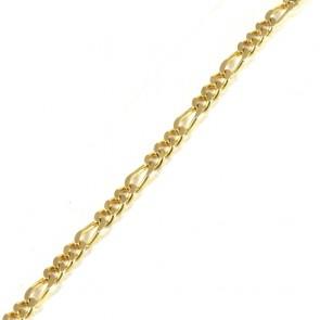 Bracciale uomo oro maglia 3+1 - 22 cm; 10.8 gr