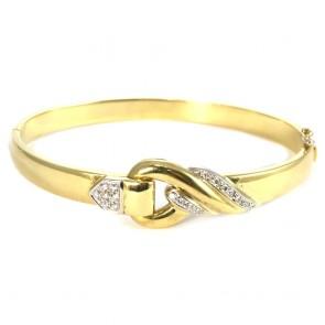 Bracciale cerchio rigido, oro e diamanti