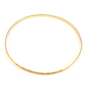 Bracciale bangle vintage a cerchio rigido in oro giallo - 5.5 gr