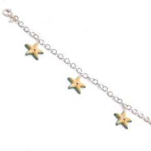 Bracciale charms stelle marine argento - 19 cm; 24.5 gr
